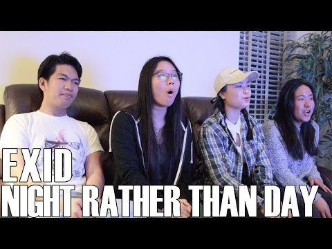 Video EXID (이엑스아이디) - Night Rather Than Day (Reaction Video) download in MP3, 3GP, MP4, WEBM, AVI, FLV January 2017