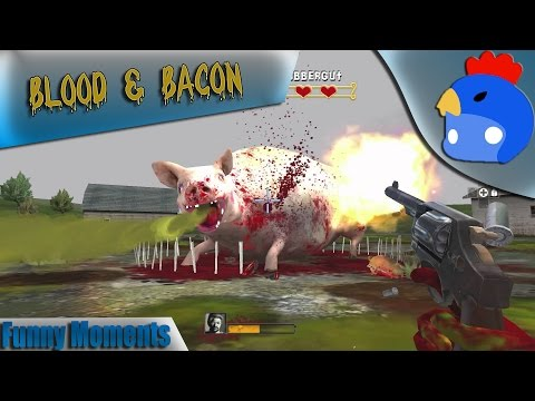 BEST 1$ GAME!!! BLOODY SHIT!! - Blood and Bacon Funny Moments - Derpling W/GrizzledEngi