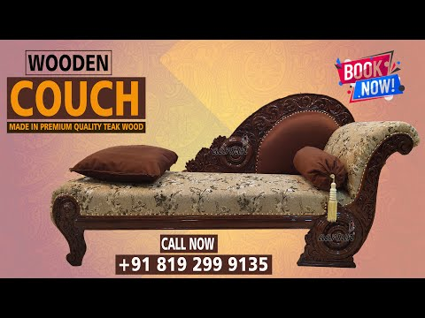 #212 Stylish Wooden Divan Couch Made in India by Master Artisans | Order @Aarsun Woods