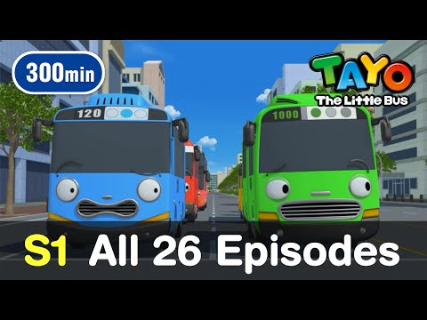 Tayo S1 L All 26 Full Episodes Of Season 1 (300 Mins) L Tayo The Little Bus
