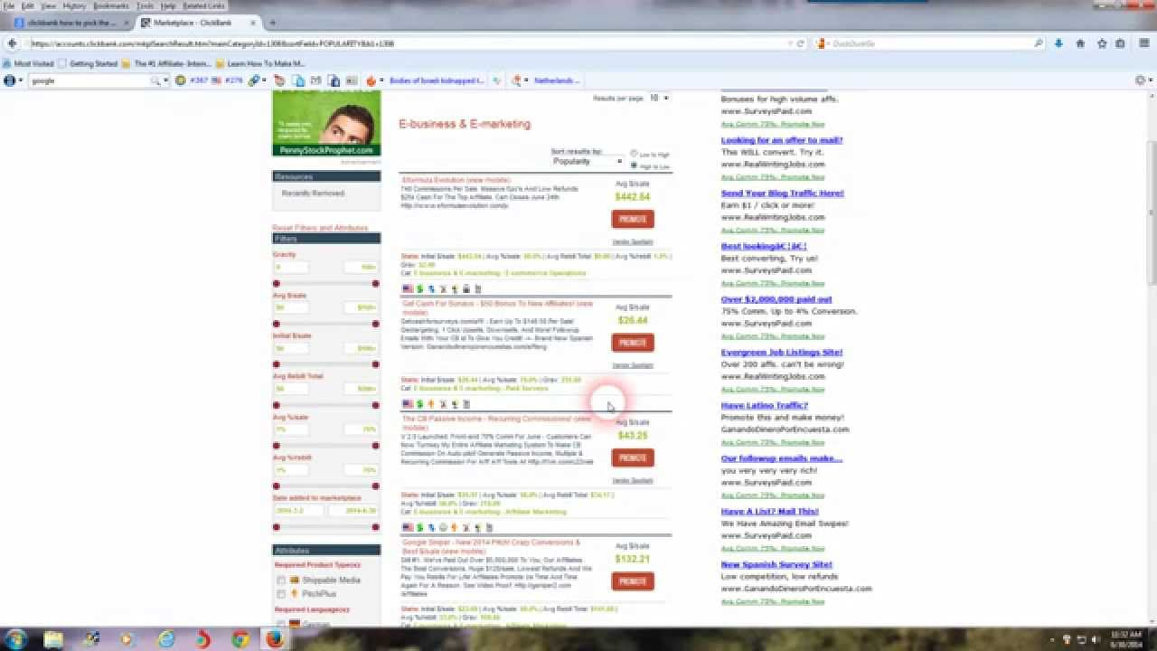 Clickbank Affiliate Success - A Quick and Easy Tutorial For