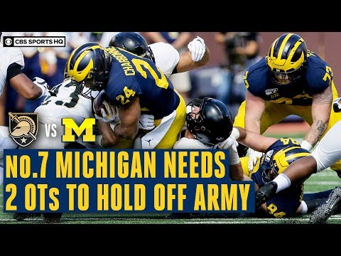 Video: Army vs. Michigan Recap: No. 7 Wolverines SURVIVE Upset Bid With Double-Overtime Win | CBS Sports HQ