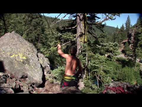 Throwing flips off of huge rope swing