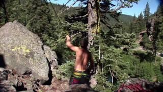 Triple Backflip - 60 foot Rope Swing!