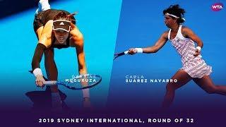 Garbiñe Muguruza vs. Carla Suárez Navarro | 2019 Sydney International Round of 32 | WTA Highlights