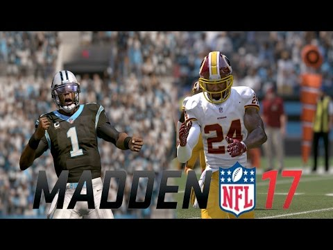 MADDEN NFL 17 OFFICIAL EARLY GAMEPLAY! CAROLINA PANTHERS VS. WASHINGTON REDSKINS FEAT. CAM NEWTON
