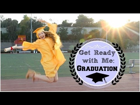 Getting Ready %7C Graduation Hair%2C Makeup%2C %26 Outfit%21