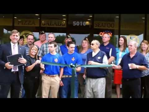 Migs Pizza Castle of Taylors Ribbon Cutting