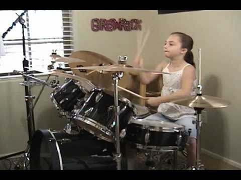 "The Beatles ""Birthday"" A Drum Cover By Emily"