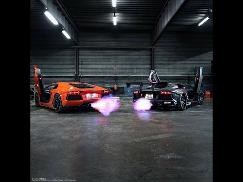 Gold Lamborghini Aventador Shooting Flames on lamborghini with flames, dodge charger shooting flames, koenigsegg agera r shooting flames, lamborghini aventador spitting flames, ferrari f40 shooting flames,