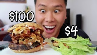Video $4 Burger Vs. $100 Burger MP3, 3GP, MP4, WEBM, AVI, FLV Oktober 2018