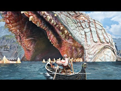 God of War 4 - Gameplay Inside The World Serpent (GoW 2018) PS4 Pro