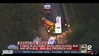 Fatalities reported after crash involving MTA, school bus
