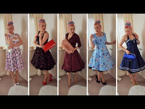 50's Swing Dress Lookbook