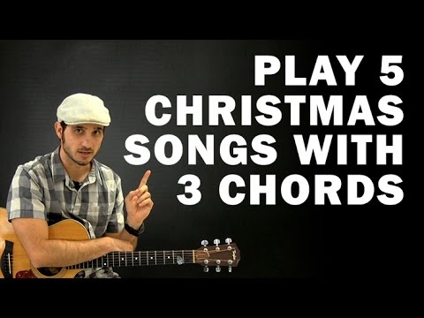 Play 5 Christmas Songs with 3 Chords | Beginner guitar lesson