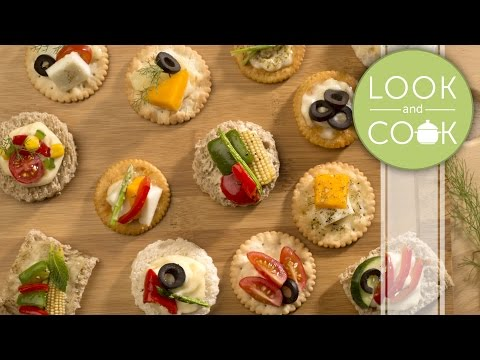 Canapés veg Recipe - Look and Cook step by step recipes   How to cook Canapés veg Recipe