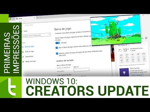 Windows 10 Creators Update: todas as novidades  Vídeo do TudoCelular