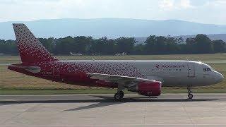 Rossiya FV 5781 St. Petersburg LED Airport - Graz Airport 09.07.2017 Departure: 16.03 Arrival: 17.39 Landing Graz Airport  GRZ  LOWG Runway 35C, 3000m x 45...
