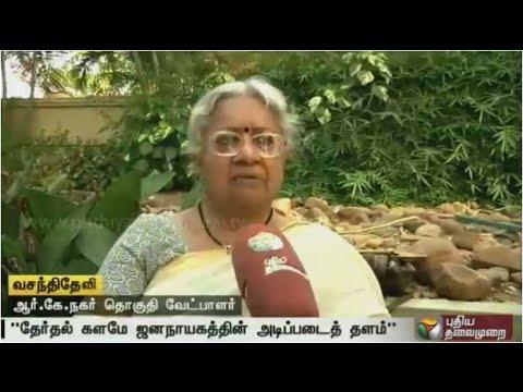 Exclusive-interview-with-Vasanthi-Devi-VCKs-RK-Nagar-candidate