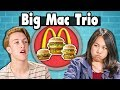 BIG MAC TRIO CHALLENGE! | Teens Vs Food