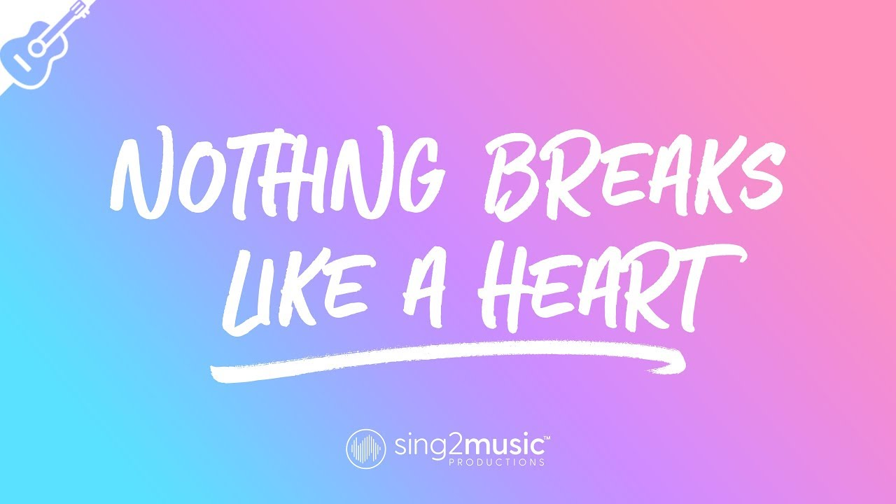 Nothing Breaks Like A Heart (Acoustic Guitar Karaoke) Mark Ronson & Miley Cyrus