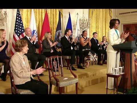 First Lady Michelle Obama Speaks at a Joining Forces Caregivers Event