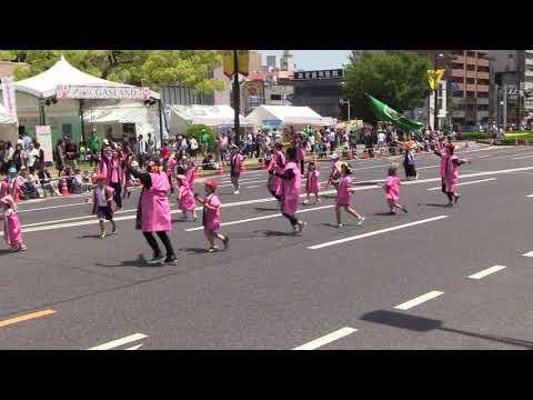 第42回ひろしまフラワーフェスティバル(2018/5/5)「船越幼稚園みんないい子に鳴子隊」