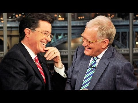 Stephen - Stephen Colbert Visits David Letterman On The Late Show. Letterman graciously passed the Late Night Baton to him during their interview. ▻ http://bit.ly/ENTV...