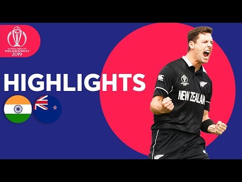Download India vs New Zealand - Match Highlights | ICC Cricket World Cup 2019 HD Mp4 3GP Video and MP3