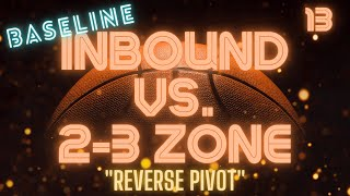 This is a baseline inbound play to run against a 2-3 zone defense. This play was originally posted on my channel along with 3 other plays in the same video. For ease of use, I decided to create individual videos for each of those plays.Here's a baseline inbound play you can run against a 2-3 or 1-2-2 or 3-2 zone defense. This is absolutely one of my favorite plays to run; because of how simple it is to execute.Like all inbound plays, you should have the possible and likely plays to run against the defense you're up against in your head and ready to go before to ball even goes out of bounds. Executing a solid screen and reverse pivot is just as important as the eye tracking and body language of your inbounder. It's always the tiniest details that make all the difference. Your main scoring option should be able to reverse pivot and seal in both directions based on how they feel and recognize the player they're screening moving. The inbounder should be able to be patient for the play to unfold and deliver the pass without giving away intent. It can be as small as eye tracking and body language. Those can be dead giveaways as to your intentions before you run the play. Learn the basics of the play, the polish it up with the fine tuning details. You don't need to know hundreds of different inbound plays, you simply need to do a few plays really, really well!This baseline inbound play to run against a 2 3 zone is great for teaching youth, club teams, junior high, high school, and recreational teams.If you have recorded video of your team executing this play or any of the plays you've learned from my channel and would like for me to do a YouTube video review of your team executing the play, please email me at:coachrussvideos@gmail.com