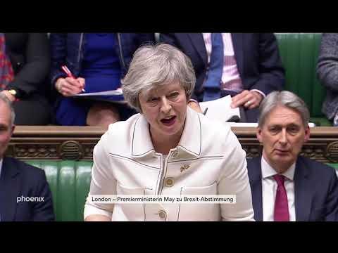 Finales Statement von Theresa May im britischen Unter ...