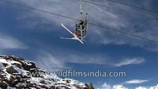 Joshimath India  City new picture : Trolley car ropeway in Auli