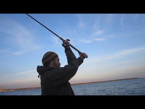 рыбалка на дамбе финского залива в мае