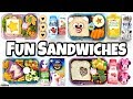Video FUN and EASY SANDWICHES! School LUNCH IDEAS 🍎 Bunches of Lunches