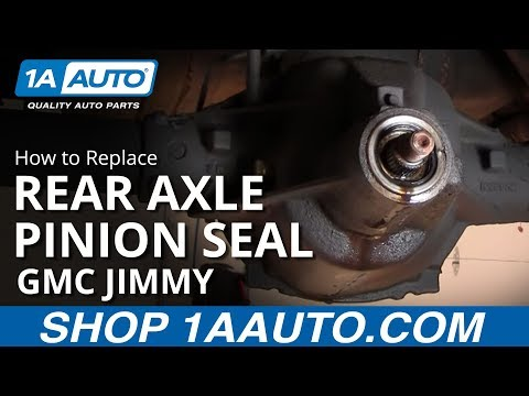 How To Install Replace Rear Axle Differential Pinion Seal 1AAuto.com