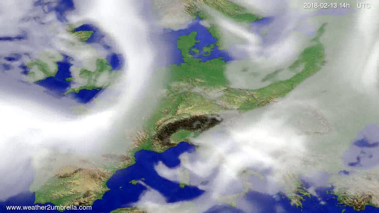 Cloud forecast Europe 2018-02-09