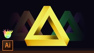 Create the Penrose (impossible) Triangle in Adobe Illustrator CC!