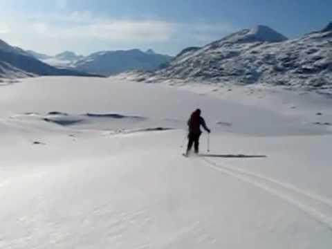 Jim Skiing Back to Camp