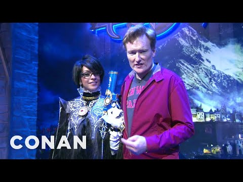 Conan Visits E3 To Check Out Playstation 4 And XBox One