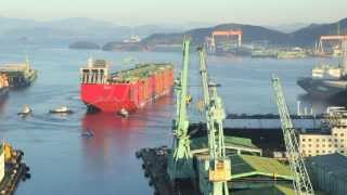 Prelude FLNG Launch Time-lapse