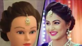 EASY AND BEAUTIFUL HAIRSTYLE  FOR DIWALI INSPIRED BY HINA KHAN \\ EASY WAY TO FIX MAG MAG TIKKA