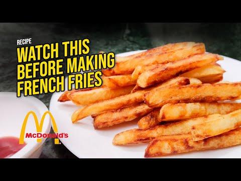 SECRET OF MAKING CRISPY FRENCH FRIES/POTATO FRIES LIKE McDonald's   How to make Crispy French Fries