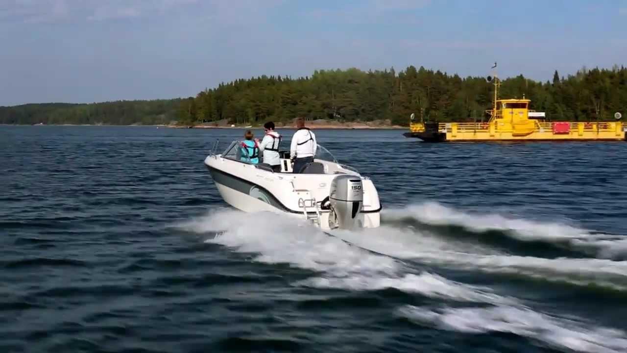 Катер для морского отдыха и рыбалки AMT 200 BR – Прогулка на катере около финских берегов