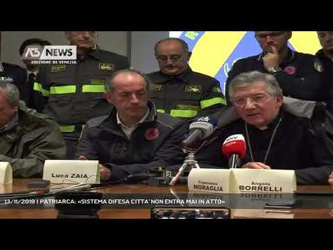 13/11/2019 | PATRIARCA: «SISTEMA DIFESA CITTA' NON ENTRA MAI IN ATTO»