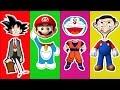 Wrong Heads Doraemon Goku trolls Dragon Ball Z Mr Bean Super Mario Finger Family Nursery Rhymes 4k