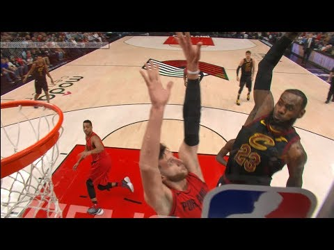 LeBron James' Thunderous Poster Jam From All Angles! (видео)