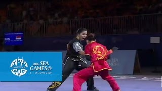 Download Video Wushu - Women's Duel Event - Weapon (Day 1) | 28th SEA Games Singapore 2015 MP3 3GP MP4