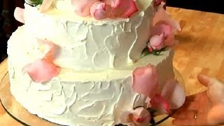 How to Make a Simple, Homemade Wedding Cake : Sweet Delights - YouTube