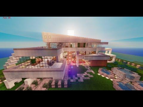 Casas modernas minecraft videos videos relacionados for Casas modernas grandes minecraft