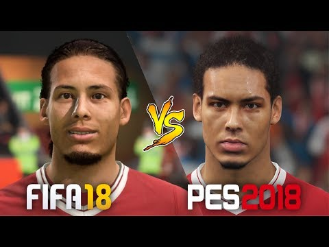 FIFA 18 Vs. PES 2018 | New Liverpool 2018 Squad Face Comparison | Update!